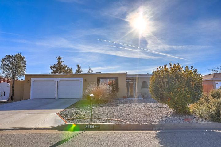 Rio Rancho Perfection! Open, bright and so very clean! The natural light is amazing; the floor plan is open and flows very well! So may updates and upgrades make this a fantastic value!  The kitchen is well appointed with thick slab granite, updated lighting, and nice appliances. The living room, dining room and family room are good sized and have excellent flow w large custom fireplace! The hall bath and master bath have been fully updated and are ready to go! Four full bedrooms provides lots of room for everyone. Refrigerated AC! All appliances convey which is a nice bonus! All of this goodness sits on a quarter acre lot with lots of room for anything like a pool or garden! Located in the middle of vibrant Rio Rancho, only a short drive to every conceivable service! Thanks for looking!