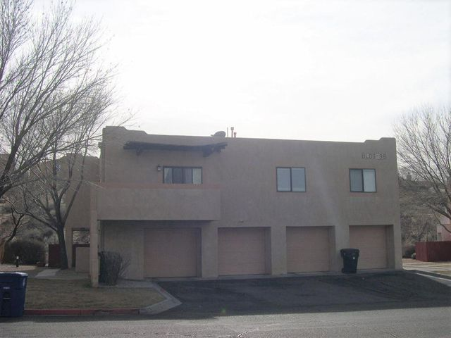 Welcome to the quiet community at Arroyo Del Sol!  Adorable Condo in a great location!  Two spacious bedrooms & two baths. Master with walk in closet, full bath. Kitchen open to dinning & living areas!  Updates within the last couple of years include cooler, water heater & garbage disposal. Stainless steel appliances in the kitchen. All appliances stay with the next owner including gas stove, refrigerator, washer and dryer!  Balcony with a great mountain view! One car garage with direct access into the home is so convenient and has additional storage space.  Wonderful location not far from Paseo Del Norte, close to restaurants, shopping, golf, and schools.  COA takes care of all roofs, stucco and exterior of the buildings, water, sewer, trash and grounds. Come see it and make it yours!