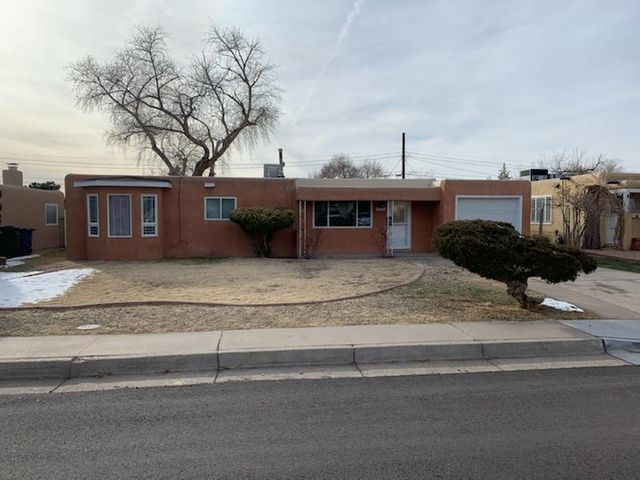 This charming 4 bedroom is nestled in a quiet NE Albuquerque neighborhood, has been recently updated with new counters, flooring, carpet and fresh paint and is move in ready. Shopping, a park, hospital all within walking distance and near I-40.