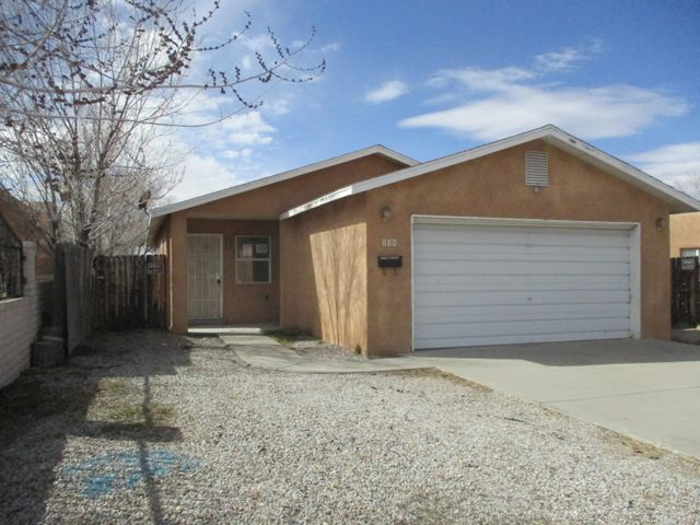 Gem in NE Albuquerque is not perfect and can be with a some personal touches. Home features 3 bedroom 1-3/4 baths, over sized garage, updates include new paint and carpet. The location is amazing with quick access to the freeways, Shopping, UNM, Kirtland Air Force Base, as well as Nob Hill. The backyard is huge and has endless possibilities and back yard access as an extra bonus. The home will not to last long.