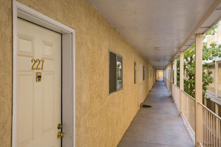 GATED COMMUNITY! PROPERTY TAX IS INCLUDED IN HOA DUES! THIS SIGNIFICANTLY REDUCES YOUR PROPERTY TAXES. UPC code is for entire 72 units. GAS FOR HEAT IS INCLUDED IN IN HOA DUES. Buyer is responsible for insuring interior of condo. Pool is available for residents and their guests. Elevator is centrally located. This has to be listed as a 1 bedroom, however it is really a very large studio. There is a very nice laundry on the premises.