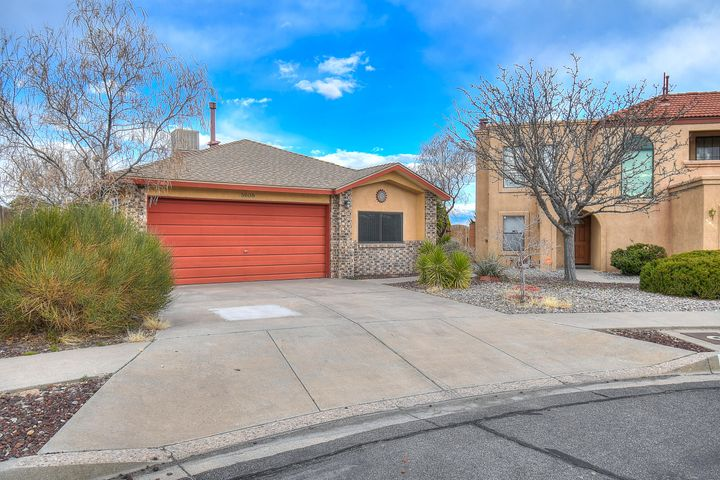 Welcome to this gem! Tucked in a quiet cul-de-sac in NW Albuquerque. this lovely home boasts high ceilings, huge living area, 2 spacious bedrooms, and 2 full bathrooms. Nice back yard with covered patio is perfect to enjoy New Mexico's beautiful weather. Conveniently located near parks, shopping, restaurants, and the Petroglyphs walking and biking trails. Come check it out before it's gone.