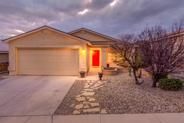 Beautiful 4 bedroom home with refrigerated air in Albuquerque's Tuscany Village located near Marble Westside Brewery. This exquisitely maintained home features an open living room and updated kitchen leading out to a great outdoor living space! The tiled sunroom opens up to a spacious covered patio complete with faux-grass so you can enjoy the backyard all year long.
