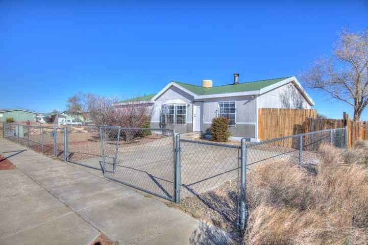 Nice home in Belen New Mexico . Recently painted, new flooring, new carpet , new laminate. Open and bright. Spacious master suite with big bath. Big kitchen with new appliances.  Large back yard. Close to I-25. Seller will pay up to 1% of buyers closing costs