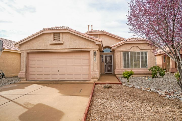 Come and see this beautiful home in a peaceful gated community. This single story home  has an open floor plan, vaulted ceilings, and a breakfast nook.  the large master bedroom has and over sized walk in tub, double sinks and garden tub.  The back yard is low maintenance, with a covered patio. This could just be your ideal home!!
