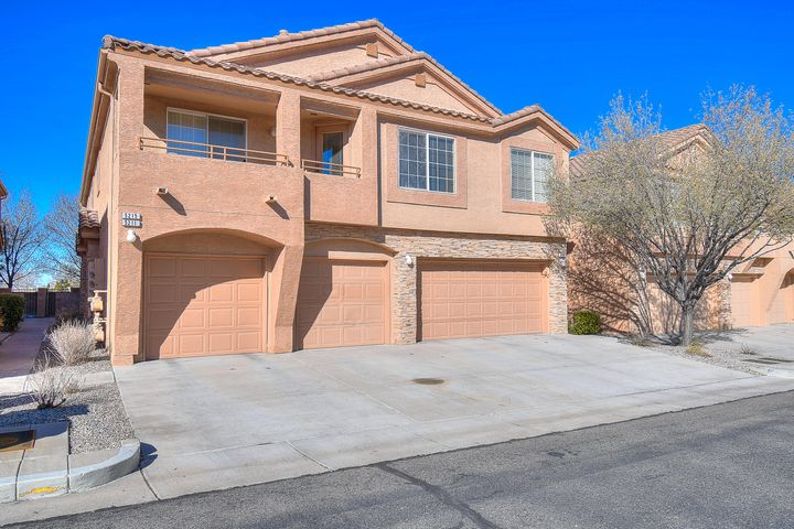 Beautifully maintained home in great NE Heights gated community! Two Master Suites upstairs, main living space and half bath downstairs.  Open and bright floor plan. Close to parks, walking trails, shopping and CNM Montoya Campus.