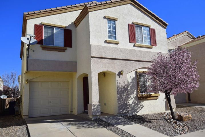 Langford Gated Community with private Park! Well maintained newer Carpet, refrigerated air, 4 bedroom 3 bathroom  and loft, open floorplan with lots of light. Close to Base, Manzano Mesa Community Center and shopping. Washer and dryer stay!