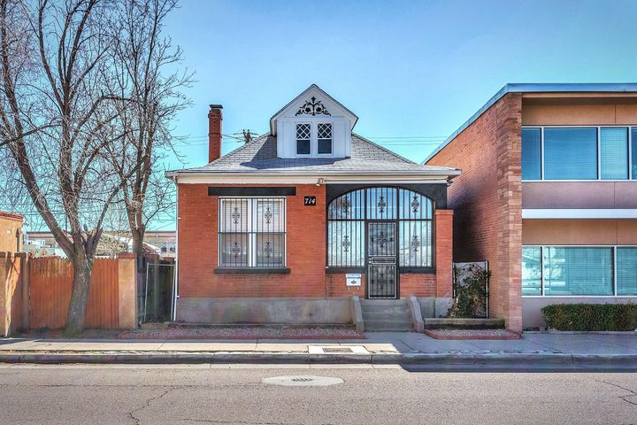 Downtown location! This adorable home was built around the time NM became a state! There are 2 bedrooms and an office or make that your 3rd bedroom! There is ample storage under the home in the old boiler room.