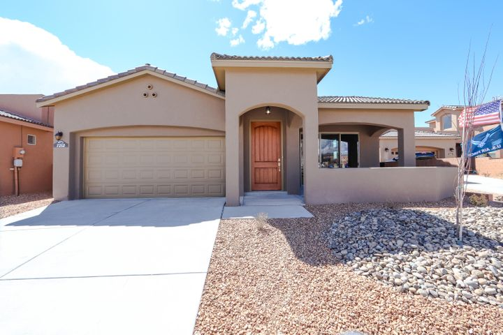 Beautiful, brand new Twilight home in a highly sought after Gated Community, within walking distance to Volcano Vista HS.This home boasts both Front Porch and Rear covered patio with views. The interior pops with wood look tile, upgraded maple cabinets, granite counters, designer backsplash, kitchen island with seating space and all appliances!! The master suite is a retreat! Bath includes walk in shower with tile surrounds, garden tub and double sinks! This one should be added to your ''Must See'' list!!This is a Model Home. Open Mon-Sat and 10-5 and Sunday 12-5