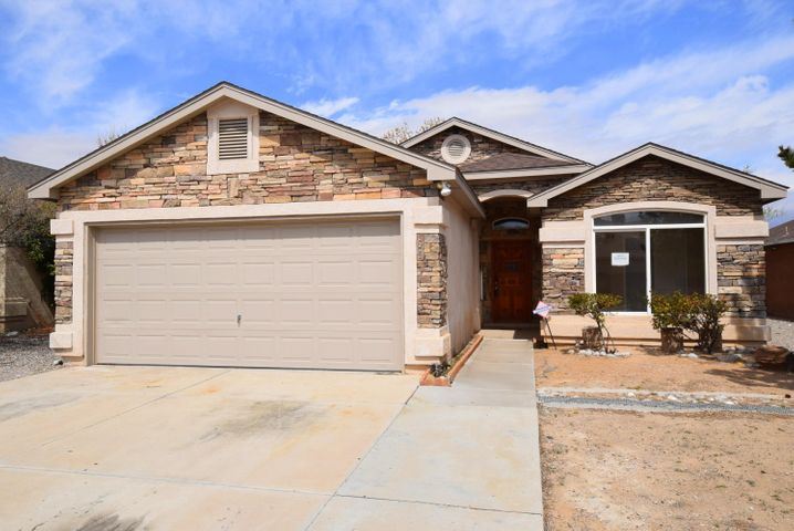 Single story 3 bedroom, 2 bath home with open floor plan.  Master bedroom separate from other bedrooms.  Upgrades include granite counter tops, tile flooring, recent paint and some light fixtures. Great location near schools, shopping and business.