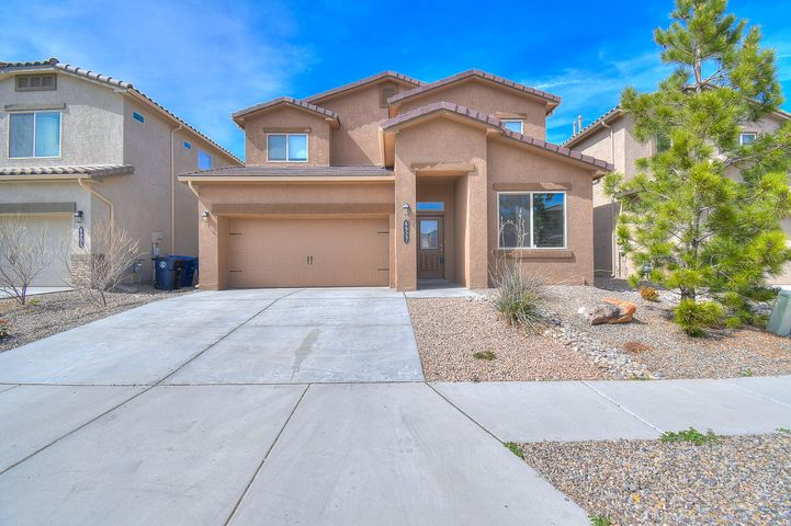 Welcome to this 1 year young DR Horton with loads of upgrades.  This home features 2 master suites, 1 on the main level.  You'll love the soaring living room ceilings, large windows and modern patio sliding door.   Dream kitchen includes dark 42'' cabinets, granite counter tops and modern tile backsplash.  Upgraded floors have a modern gray tile and gray carpet.  Bathrooms feature tiled surrounds, upgraded vanities and so much more.  Relax outback with a nice covered patio with brick pavers and a built in fireplace for those chilly nights.  A must see, come visit this move in ready home today.