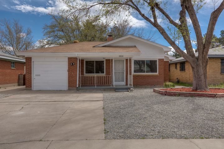 Come check out this remodeled Southeast Heights home! Featuring contemporary finishes throughout, this 3 bedroom home boasts new flooring, carpet, paint, and granite countertops.  Master suite with tiled walk-in shower. Step outside to a sizable backyard with endless possibilities. Super convenient location- only minutes away from schools, parks and easy access to I-40. Call for your private showing and make this house your home today!