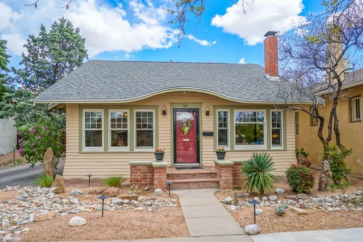 Charming Craftsman in Historic Downtown. All the quality touches of a 100-year-old home thoughtfully updated with modern conveniences. Xeriscape front yard with drip system for easy maintenance. Formal living/dining area with original floors, endless light and cozy fireplace. Eat in kitchen with super cool breakfast nook. Out back is a private, lush retreat with covered patio and multiple decks. Detached garage with studio space above. 3 bedrooms downstairs share a bath. Upstairs is devoted to a romantic master suite. Relax under the eaves or delight in the spacious 3/4 master bath. Refrigerated air, central heating, tankless water heater, new roof and new Anderson/Pella windows. One of just a handful of homes on Mary Fox Park. Tranquility in the heart of the city.
