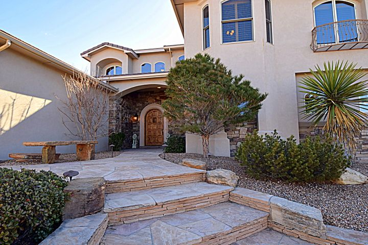 stunning home in The Canyons of High Desert. This 2 Story custom home features the Master BR on the main floor, 2 living areas plus a loft, gourmet kitchen, and beautiful backyard with patio entertaining area with TV, Wolf Grill and a sparkling pool. The large kitchen has Halbert Cabinets with a commercial Wolf Stove, and Full size sub zero Freezer, full size Sub zero Refri.  Pantry, Island, granite counters, breakfast nook.The MBR has sitting area and overlooks pool. Exceptional attached bath with Decorator touches and very large Closet with cabinets built in, Double lavs, sep shower, raised tub.  Dramatic fireplaces in both living areas.  Deck off upper level with magnificent views, Plantation shutters, 3 car garage,  Loft overlooks Great Room. Lovely wine bar in Fam.Rm.Many Amenitie