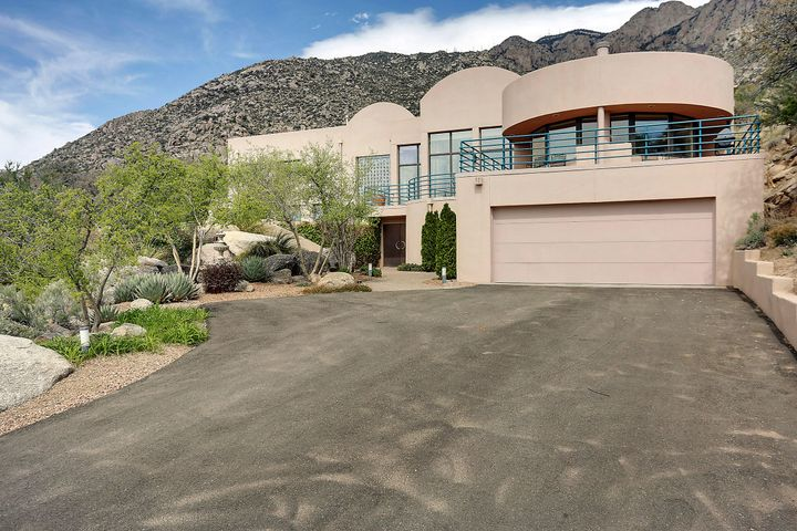 This one-of-a-kind property provides absolute privacy. Gorgeous, one-owner custom home nestled in the foothills has it all, including spectacular unobstructed city & mountain views. At 4369 SF, there is space for everyone. 4 bedrooms, each with its own bath, 3 living areas - 1 with a studio/workout space, spacious master suite with luxurious bath, 2 walk in closets & view deck with hot tub, gourmet kitchen with butler's pantry & huge breakfast nook leading to a dazzling deck overlooking the pool area & incredible city views. This house boasts tons of storage. Lots of outdoor living spaces. Total acreage is 2.11 acres. Sale includes both Lot 54 (1.15 acre) and Lot 55 (.96 acre). Estimated annual tax of $1220 for Lot 55 is paid separately from Lot 54; estimated annual tax for Lot 54 is $5939