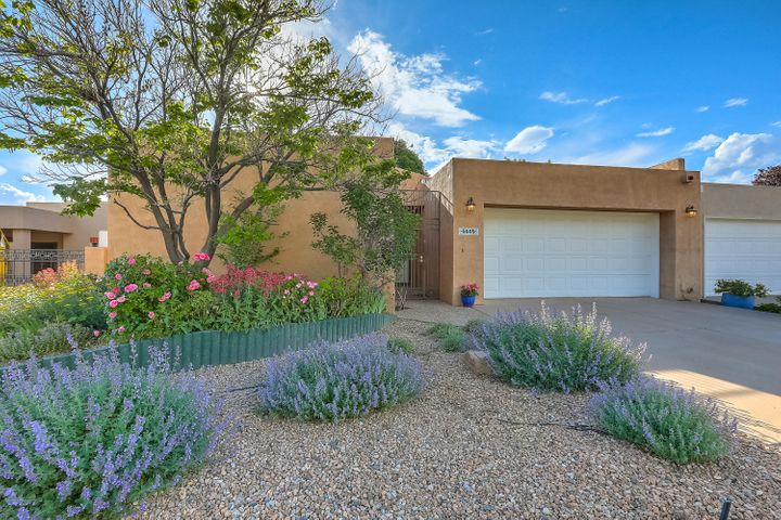 OPEN HOUSE SATURDAY May 18th from 12 pm to 2 pm. Welcome to this wonderful Mossman home in a highly desired area in Albuquerque. Close to Whole Foods, Albuquerque Academy, great golf and shopping. This wonderful home boasts two living areas with a two-way fire place. The living room has lovey light and a decorative room length shelf for treasures, an elegant custom fireplace mantle and surround. The den or library boasts a full wall of bookcases and glass door to the outside patio. There are three patio areas with gorgeous roses. The owner is a master gardener so throughout summer you will enjoy new delights of color around the yard. The kitchen has an eating nook and open bar to the living area and additional dining area.  (Please see ''More'')