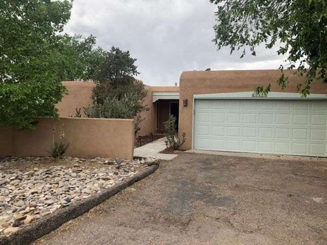 Beautifully updated 3 bedroom home in Sandia Heights. Lot's of natural light with many skylights, and large windows. Completely remodeled kitchen with brand new cabinets, countertops, and all new Stainless GE Appliances. Brand new stucco and exterior paint, newly painted interior, new furnace, and new water heater! Master bathroom remodeled in 2018. Second and third bedrooms share a Jack and Jill bathroom  Amazing views to the west, and of the mountains!