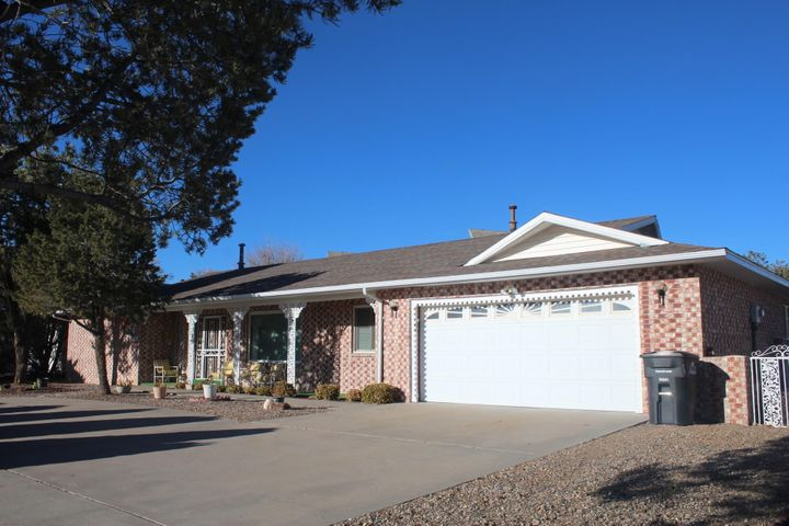 Very well kept  home located on the 16th fair way of  Tierra Del  Sol Country Club. Single story, all exterior brick for low maintenance,  breath taken view of the sunrise over the Manzano mountains from the breakfast nook and sun room. Screen in porch next to open patio.  Third bedroom being used as a multipurpose room with lots of storage. Great neighborhood.
