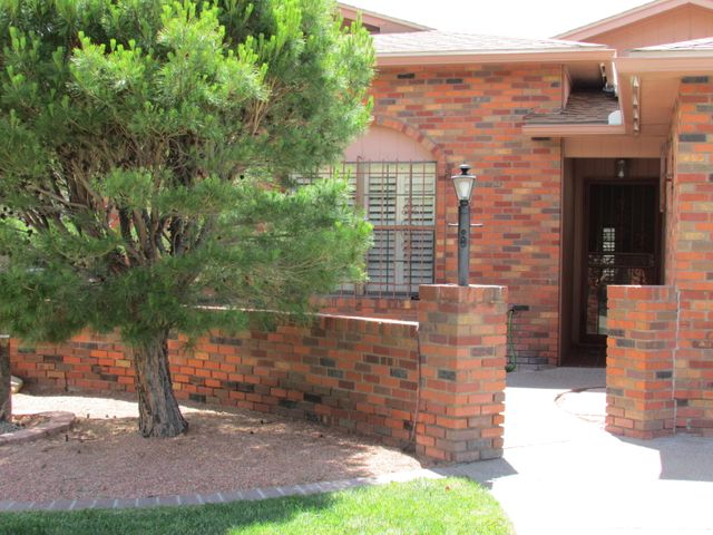 Gorgeous *ALL Brick* Townhome in a Fantastic Northeast Heights Location! Close to the Albuquerque Academy and Tanoan County Club. This Beautiful Home offers Tons of Natural Light Pouring in from the Vaulted Ceiling Skylights. Spacious Great Room with Cozy Fireplace opens to Formal Dining Area. HUGE Kitchen with Granite Countertops and Breakfast Nook. New ROOF in 2017, and NEWER Furnace and REFRIGERATED Air to Keep You Comfortable Year Round! Enjoy the added space of the Heated/Cooled Sun Room with Pella Windows. Don't Miss this Gem in the Highly Sought After Academy Hills Neighborhood!!