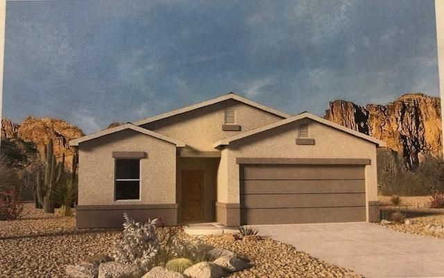 The Tesuque is a brand new floorplan and this home will be the first in the community with an estimated completion of late July. Why settle for a used home when you can get all the most up to date features and a new home warranty as well.
