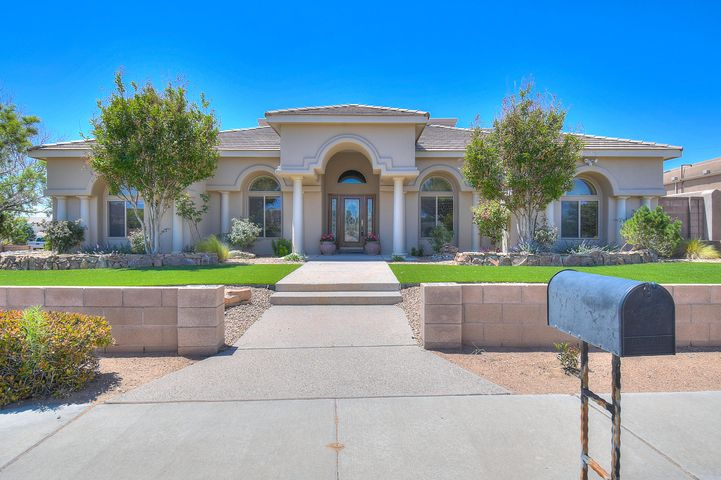 Open House Saturday 6/8 2-4pm! Custom stunner nestled in Paradise Heights with a pool! Parade of Homes multi-winner! Spacious single story layout with 4 bedrooms (plus office) and 3 full baths. Corner lot, just one block to Salida del Sol Park & trails. Thoughtful layout with formal and informal living & dining areas. Exquisite kitchen replete with commercial grade gas range, Bosch dishwasher, built in stainless steel refrigerator granite counters and breakfast bar. Formal dining room boasts wet bar and wine fridge. Open family room with gas fireplace spills onto covered patio.  Stunning backyard with heated Gunite pool &hot tub. Private master bedroom wing boasts two way fireplace, jetted tub and huge closet. Truly a must see. South lot is also available for purchase