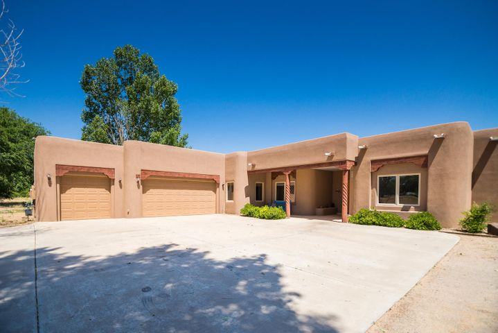Gorgeous custom home in a wonderful gated community.  Located on a green belt with protected open space.  Two irrigated acres.  Enjoy entertaining outdoors on the spacious patio.  3,431 sq ft in main part of home with attached 355 sq ft casita.  Luxurious Master Suite with two huge closets, custom snail shower and jetted tub. 3-car attached garage.  Additional acreage available! 2 acre parcels at $89,900!