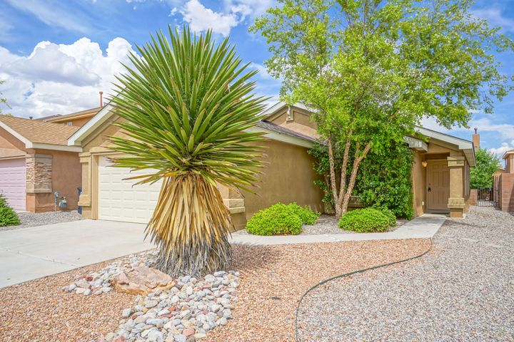 Welcome to this lovely single story home in Ventana Ranch.  This home has been FRESHLY PAINTED, has vaulted ceilings &  ceiling fans. An office is off the living room with a double door entry. The spacious country  kitchen has a bar open to the living room, lots of oak cabinetry, a pantry, refrigerator, gas range, built in microwave and  dishwasher. The master bedroom has bay windows, double closets and a 3/4 bath.