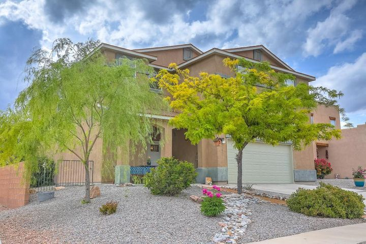 BEAUTIFUL LIGHT, BRIGHT AND SPACIOUS 5 BEDROOM HOME IN CABEZON WITH ADDITIONAL OFFICE.  OFFICE HAS ITS OWN SEPARATE ENTRANCE.  OPEN CONCEPT FLOORPLAN WITH 5 GENEROUSLY SIZED BEDROOMS.  NEW PAINT THROUGHOUT AND NEW ACACIA WOOD FLOORS DOWNSTAIRS.  HOME IS FULLY LANDSCAPED.