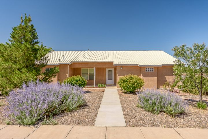 Move in ready! Enjoy wide open spaces in this spacious and well-built- 2X6- custom home on 1/2 acre in quiet  Rio Communities.  New stucco,  fresh paint, including garage. 3 bedrooms, 2 full baths, walk in closet in MB.  The family will love the large kitchen with granite countertops and oak cabinets. Wood flooring, carpet in bedrooms, tile in baths. Warm and cozy in winter with RADIANT heat with recirculating water and cool and comfortable in summer with newer Master Cooler. Enjoy chirping birds while sipping morning coffee on the shady covered patio and spectacular sunsets and unobstructed views. Oversized garage for hobbies. Plenty of room for RVs, trailers, boats. toys, pets to run, garden.   City water and sewer. All apnpliances convey. Across from Tierra del Sol Golf course