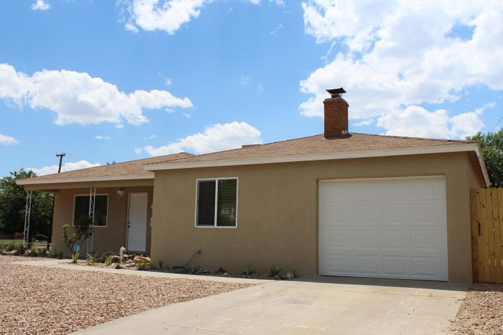 3 bed 2 bath home updated stucco, Windows, new  granite kitchen counter tops, updated kitchen, updated bathrooms, New stove and dishwasher, new paint through, new carpet and tile and new light fixtures. Home sits on corner lot with backyard access.