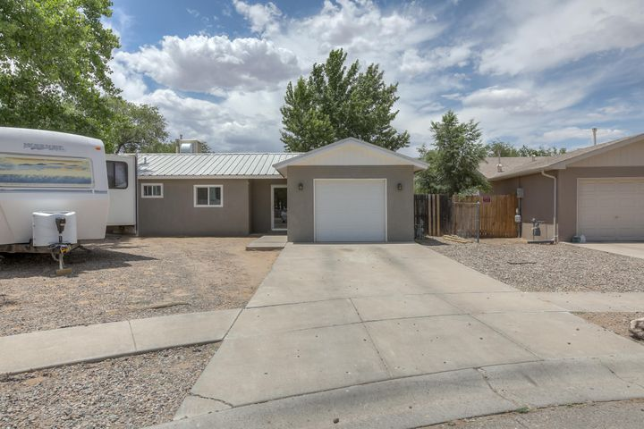 Adorable home tucked away at the end of a cul-de-sac in beautiful Los Lunas! This 3 bed, 1 bath is located on .25 acres! Plenty of room to store RV's, trailers or add on. Covered patio, 1 car garage, life time warranty windows and 3-4 year old stucco. Don't miss out, won't last long! Inspections are complete. Selling property as is.