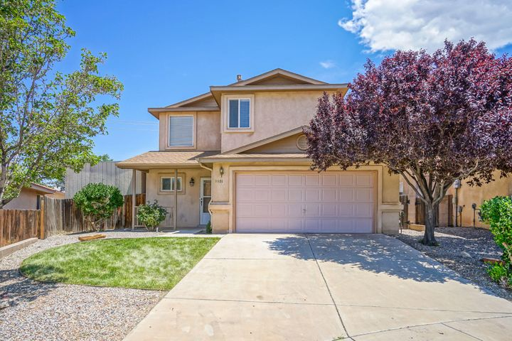 Welcome to this ''ready to move into'' home in the La Cueva school district. Close to shopping and restaurants. Mountain views! Open concept floor plan which opens onto the covered patio in your private landscaped backyard. The shade trees and green lawn will keep you cool when you relax  out here at the end or the day or for an early morning cup of coffee. A flagstone path leads around to a large shed for storage on the side of the house. Kitchen has a breakfast bar, pantry & recessed lighting. 1/2 bath is downstairs. All 3 bedrooms are upstairs. Washer & dryer stay.