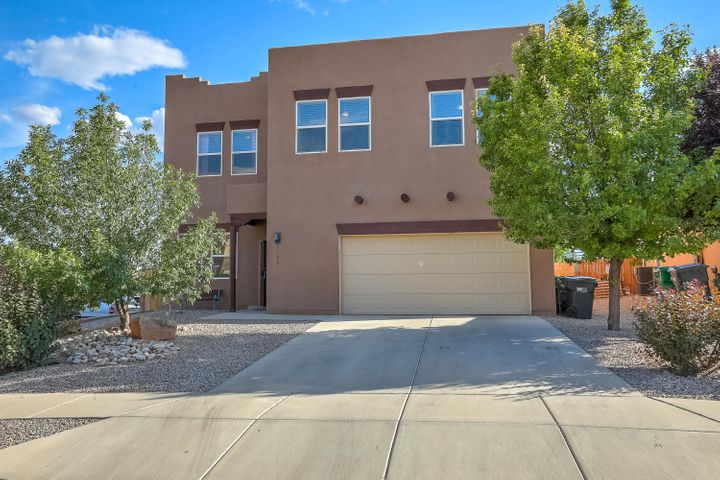 This is a beauty on a large corner lot! Gorgeous T&G ceiling in greatroom w/fabulous gas Kiva fireplace! Foyer, kitchen and dining boast newer tile with the look of wood!  Open kitchen to greatroom with stainless appliances, solid surface countertops ! Upstairs huge loft perfect for 2nd living area, hobby room, etc!  All bedrooms upstairs!  Master bedroom with its own private sitting area! ....Oversized backyard with extended covered patio, perfect for entertaining!!....This stunning property is outstanding and move in ready!!!! (professional photos July 3)