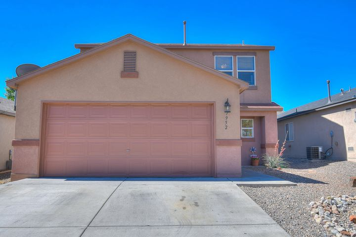 Contact your Realtor before this one is gone! This well maintained 2 story home has 4 bedrooms upstairs and a spacious office or 5th bedroom downstairs, perfect for your guests! There is also a 3/4 bathroom on the main floor making it easy for anyone to come to enjoy your new home. The open floorplan and allows light to flow throughout the home. There is no carpet in this home so any cleaning is a breeze leaving you with more time to enjoy the gorgeous landscaped backyard. Stay cool with the refrigerated air system when the days get a little too hot for comfort! The laundry is upstairs with all the spacious bedrooms. Make this home yours before anyone else, Today!