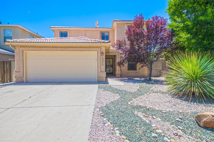 Modern two level home, open floor plan, upgrades throughout to include paint, flooring, fixtures and stainless appliances. Covered back patio perfect for your hammock and BBQ grill.  Quiet Southwest neighborhood, with easy access to 1-40 ,  Coors and Unser.  Come see this one today!