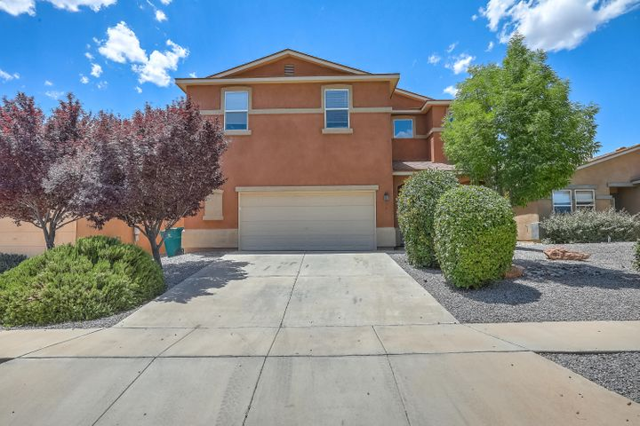 Immaculate Eldorado floorplan! brand new flooring, interior paint, dishwasher, blinds! Huge loft perfect for gameroom, 2nd living space!  master bedroom with private gas log fireplace, views! 1 office/bedroom down, 4 bedrooms up!Kitchen open to the greatroom! Excellent location close to Cabezon Park/pool! Outstanding property!