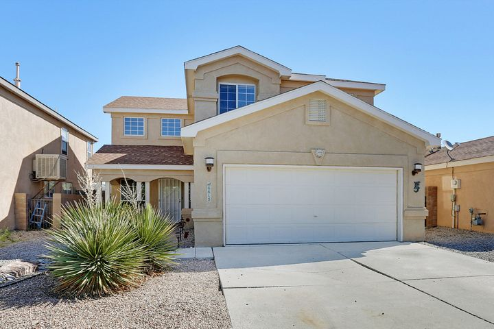 Located in a Ventana Ranch culdisac, this home has 4 bedrooms! You enter the front door to high ceilings, upgraded tile and french doors to an office/gym. The kitchen is equipped with tons of counter space, cabinet space and an upgraded pantry door. The upstairs has wood flooring throughout! The master suite is spacious with an upgraded tiled tub & shower. Master is also equipped with a balcony that has a view!