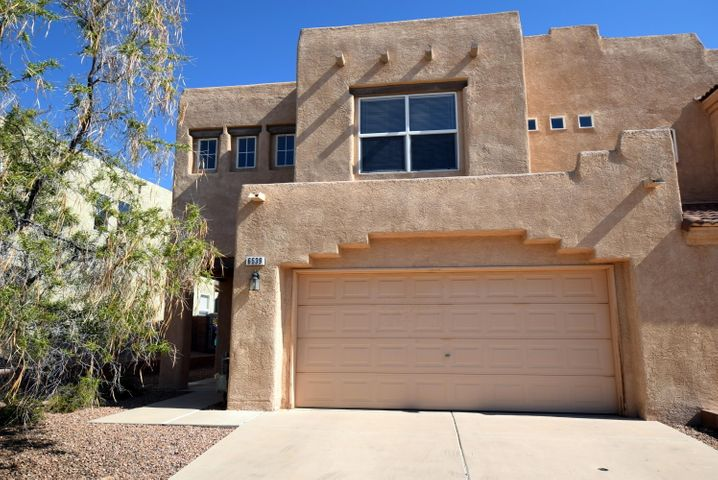 Single cul de sac street townhome community just east of Ventana Ranch with only residence traffic! This DRH townhome is the largest floorplan in the community. There is a wonderful sense of space as you enter the Great Room (carpet) with it two story vaulted ceiling. If you're looking for a home with tons of light, this is for you! The Country Kitchen includes a sunlit Dining Area/Family Room (laminate) which looks out to the private backyard. Upstairs, the 2 Bedrooms are well spaced for privacy and the Loft offers opportunity for a third Living Space, Office/Study or Bedroom #3. The upstairs bathrooms each have a skylight. As part of Ventana Ranch, Ventana T/Hs offer VR amenities such as walking trails accessed via the cul de sac and park nearby. Low HOA of $24/month.  A hidden gem