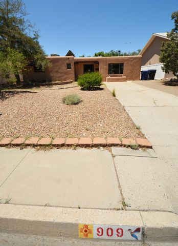 Centrally located Albuquerque home. Close to I-40 for commuting and ABQ uptown area for shopping and entertainment.  2.5 miles down Lomas to UNM Main Campus. Home has classic hardwood parquet floors and No carpet to clean. Double pane windows. Updated electrical service and sewer line line tap. Come see this home!!