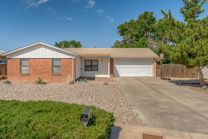 This updated single story, 4 bedroom in the La Cueva school district is ready for its new owner! New roof in 2017 along with new HVAC with Refridgerated Air and a High Efficiency Forced Air Gas Furnace.  The home has been recently painted and offers new carpets and engineered hardwoods.  The 2 car garage offers extra workspace and the backyard has a covered patio to enjoy summer evenings outside.  The north side of the home has space for RV parking or extra outdoor storage as well.