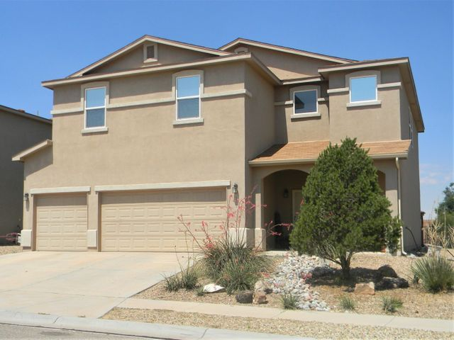 EXCELLENT LOCATION! This spacious home is located in a well-established neighborhood and close to the community park, walking trails, shopping, restaurants, entertainment, Facebook and I-25.  5 large bedrooms, 1 bonus room that could be a bedroom, office, or media room., 3 bathrooms, refrigerated air, walk-in closets, open floor plan, 2 gas fireplaces, plus a 3 car garage with ample storage are just a few features this property has to offer. Large, fully landscaped yard is perfect for entertaining.  Enjoy the warm summer days under the covered patio and the shade of 5 fruit trees.  Bonus: Backyard access and outdoor workshop/shed with electricity.  Don't wait to schedule your tour!