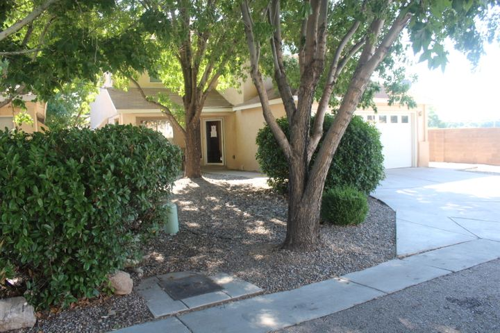Previously a Model House;  READY TO MOVE INTO!!! New Paint. New Carpet. Quality abounds in this conveniently located gem in the heart of the South Valley in an upscale neighborhood. Light Bright Open Floor Plan With TWO Living Areas. Comfortable Living Room With Gas Log Fireplace & High Ceilings adjacent to the formal dining room. Around the corner and through the spacious Kitchen-Breakfast Bar-Eat-in area is a comfortable DEN area. Upstairs is a HUGE master suite and accompanying LARGE, spacious bath area & two OTHER nice-sized bedrooms. In Addition, a Spacious Loft which  could be fourth Bedroom, office or study area!!!. Finished Garage Is Heated.  The private backyard is perfect for evening ''chill down'' time with friends and family -- or just by yourselves.  This one is a KEEPER!!!