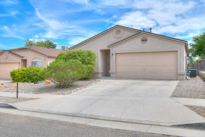 Motivated Seller! Beautiful well kept SW Albuquerque home. Open concept kitchen and living space with 3 bedrooms and 2 bathrooms with split master floor plan. Perfect for owners privacy. Conveniently located close to church, schools, and parks. Great family home with private back yard. Make this your home today!