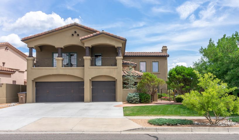Spectacular custom residence located in the sought after neighborhood of Primrose Pointe! Beautifully sited on a view lot backing to the open space! Enchanting & colorful courtyard! Discover amazing architectural features, old world charm, attention to detail & fine finishes! Soaring cathedral T&G ceilings, arched doorways, travertine floors, culture stone, Pella wood windows & custom built-ins! Stunning formal living room w/ dramatic fireplace & formal dining room with door opening to covered patio.Incredible gourmet kitchen equipped with quality appliances, custom cabinets, granite! Open to the kitchen is the family room with fireplace! Master retreat offers 2-way fireplace shared w/bathroom & expansive view balcony; luxurious bathrm with jetted tub & amazing shower!  Private backyard...