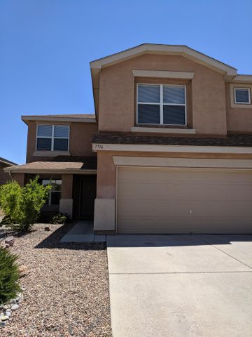 This Ventana Ranch home has 4 spacious bedrooms plus a loft.  Kitchen with island, refrigerator, gas stove and microwave.  Dining area opens to family room w/ gas log fireplace.  NEW Carpet throughout.  Tile in kitchen, laundry room and bathrooms.  Lots of storage in this open floorplan. Master bedroom has build in shelving and walk in closet. Southwest landscape front yard, fenced and landscaped backyard. 2 car garage with remotes.  House is wired or alarm system.  Near park and walking paths.