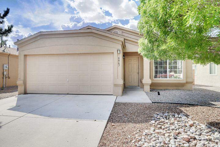 Welcome to this fantastic home located in the master planned community of Ventana Ranch! This single-story home is three bedrooms and two baths and includes new carpet and paint! The floorplan is very open and features a kitchen that opens into the living room area. The backyard is zero escaped and very low maintenance! This fantastic community includes many walking trails and parks. Now is your chance to make this home yours!