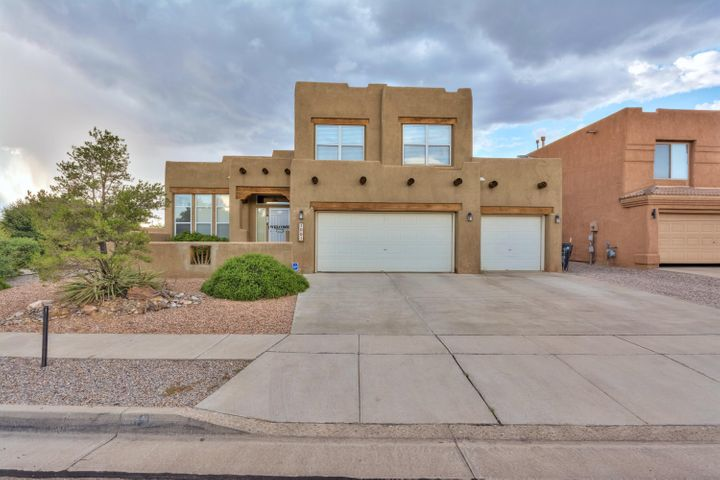 Amazing Pueblo style home in Vista Del Norte on Corner Lot, Large Kitchen with open floor plan! Wood Floors, office.  Large Backyard with Custome Barbecue Grill, Covered Patio with a in-ground Jacuzzi. This is an entertainers paradise. Did I mention roof and just been done!