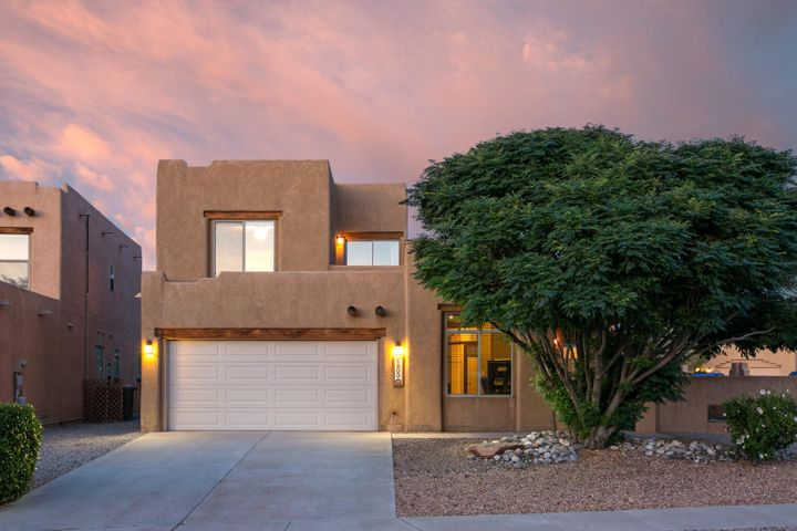 Amazing opportunity to own an affordable 3BR/2BA luxury home nestled near parks, stores, and places of worship.  The never-ending views of the Sandia Mountains will provide a calming experience from this unique home-site.  In fact, you won't want to leave your castle in Albuquerque's highly desirable North Valley area, where great schools abound! Granite counter-tops in the kitchen and Stainless Steel Appliances are a chefs delight.   The spacious and private corner lot is surrounded by a gorgeous rock garden,  with stunning views. and a beautiful wrap-around yard.  Perfect for BBQ's, and time with friends and family.   Don't miss this!
