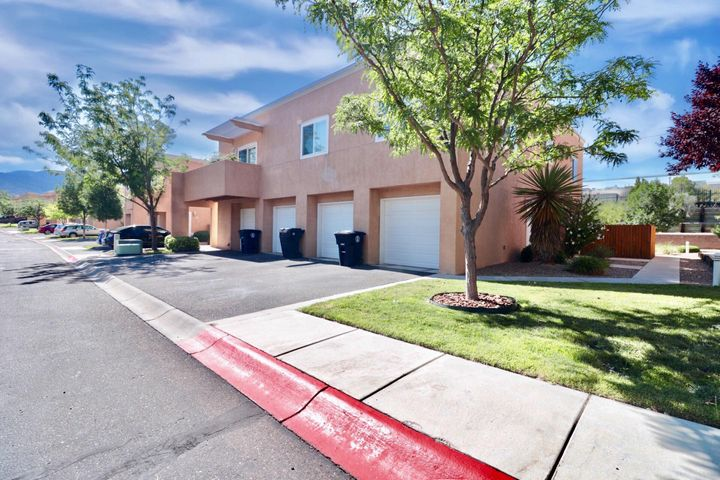 Beautiful easy living! And lots of updates in this single level first floor end unit condo! It only touches on one side-windows on 3 sides Refrigerated Air. new carpet, fresh paint, Nice refinished counter tops in kitchen.  And so can the dryer. So light & bright inside plus the perfect location for privacy yet it's a condo! Patio on the east side for shade in the evenings, cute cute kitchen in fantastic shape. The range can be gas or electric. Nice tile in both bathrooms. Recent water heater too! One car garage with lots of extra storage space. All in a gated community! This is a turn key-move right in! Come see today you will love it!