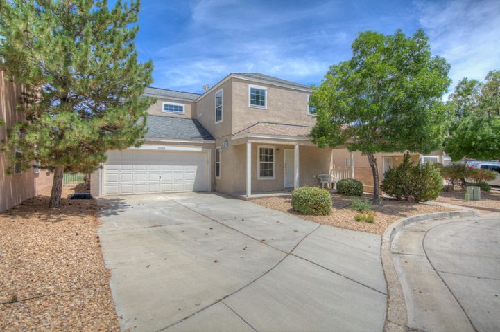 Charming beauty in Tres Placitas! This cozy 3 bed, 2.5 bath home is ready for your buyers. This home features laminate wood and tile flooring, brand new carpet and fresh paint . There is two way access to the garage, and front and rear easy care landscaping. Close to walking trails, parks, schools, and shopping. Show and sell today.